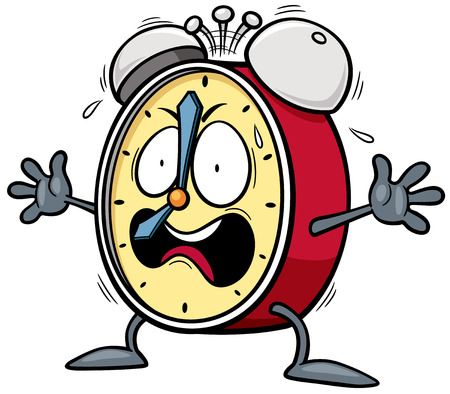 Vector illustration of Cartoon Alarm clock