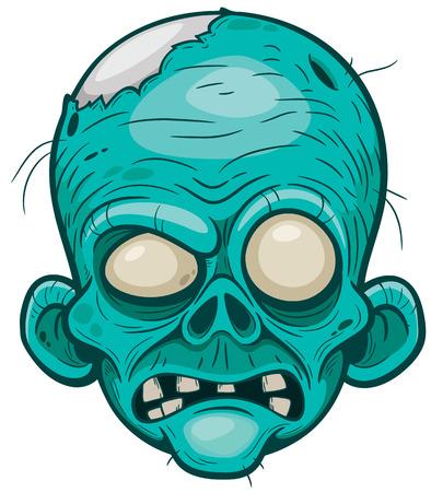 cartoon zombie: Vector illustration of Cartoon zombie face