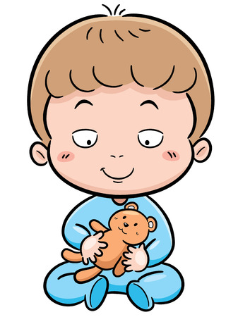 positivism: Vector illustration of Cute baby