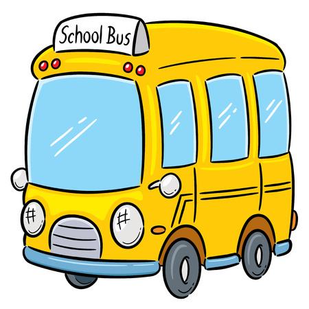 flashers: Ilustraci�n vectorial de autob�s escolar Vectores