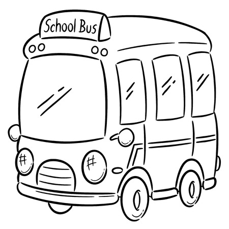 flashers: Ilustraci�n vectorial de autob�s escolar - libro de colorante