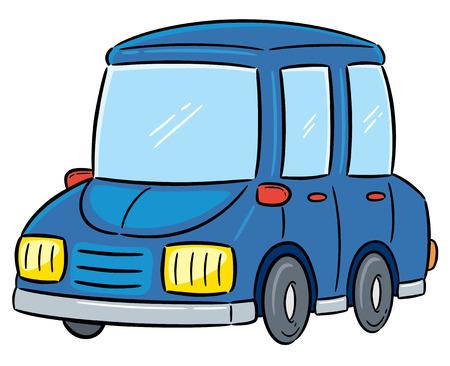 rally car: Vector Illustration of Cartoon Car Illustration