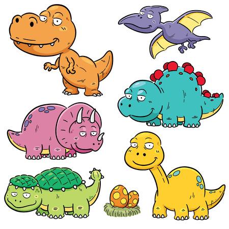 Vector illustration of Dinosaurs cartoon characters Vector