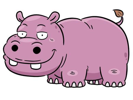 yawn: Vector illustration of Cartoon Hippopotamus Illustration
