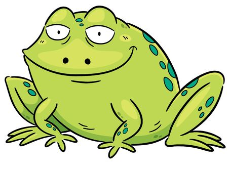 froggy: Vector illustration of frog cartoon