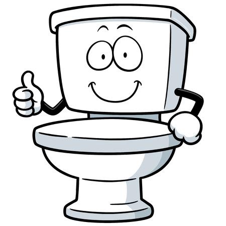 Vector Illustration of Cartoon toilet Vector