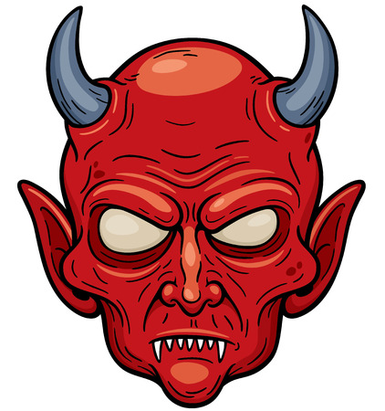 Vector illustration of Devil face