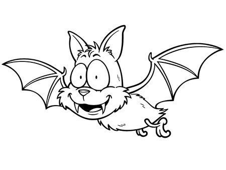 Dibujos Animados Murciélago Sonriente Ilustraciones Vectoriales