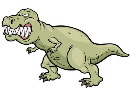 t rex: Vector illustration of cartoon dinosaur