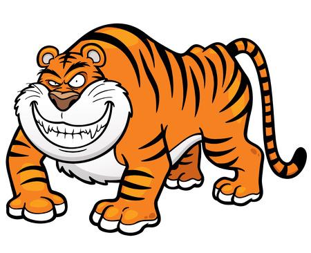 crouching: Vector illustration of Cartoon tiger Illustration