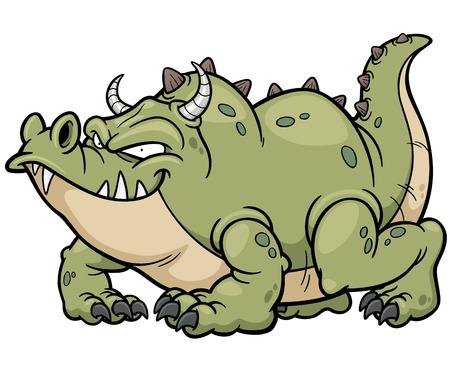 brandweer cartoon: Vector illustratie van de draak van het beeldverhaal