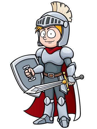 armory: Vector illustration of Cartoon knight