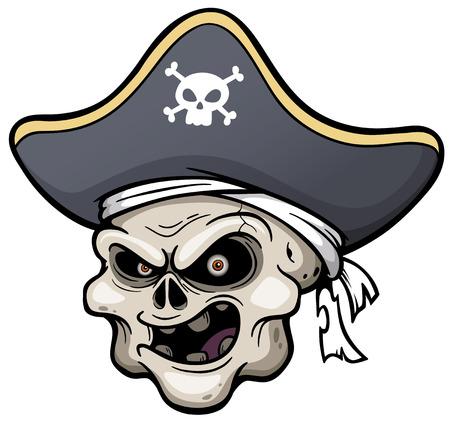 scowl: Vector illustration of Pirate skull