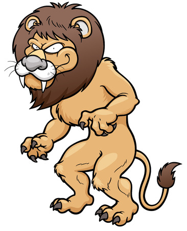 angry lion: Vector illustration of Cartoon Lion