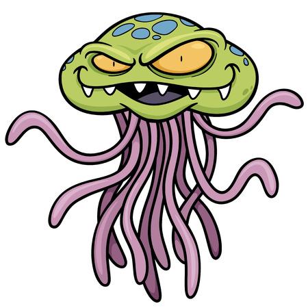 Vector illustration of cartoon Monster