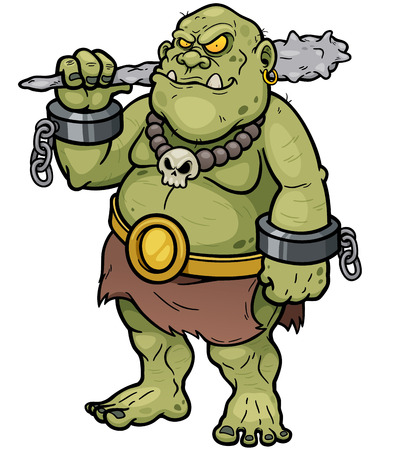Vector illustration of Cartoon Ogre