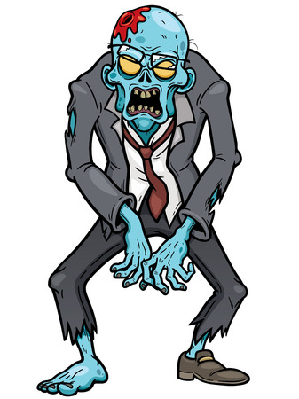 Vector illustration of Cartoon zombie Иллюстрация