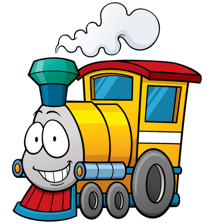 Vector illustration of cartoon train