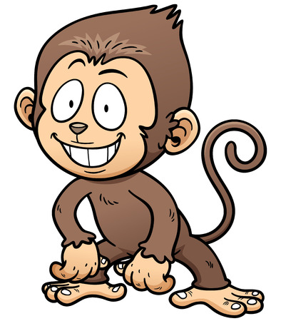 chimpanc�s: Ilustraci�n del vector del mono de la historieta