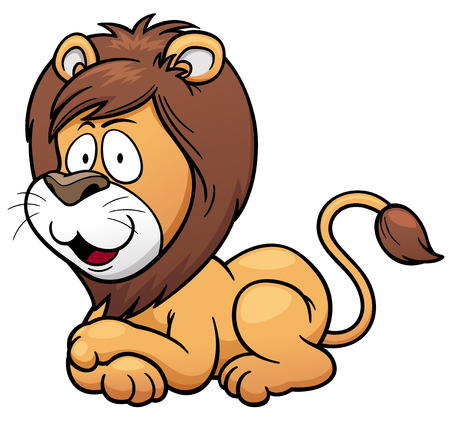Vector illustration of Lion cartoon