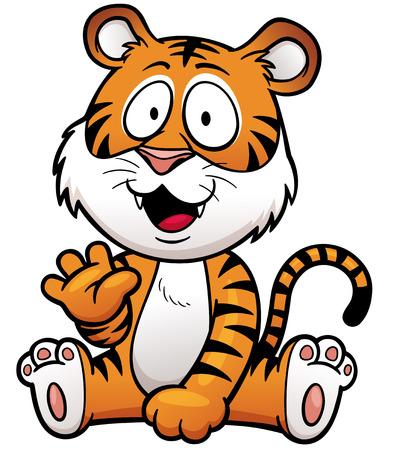 Tiger cub: Ilustraci�n del vector de la historieta del tigre