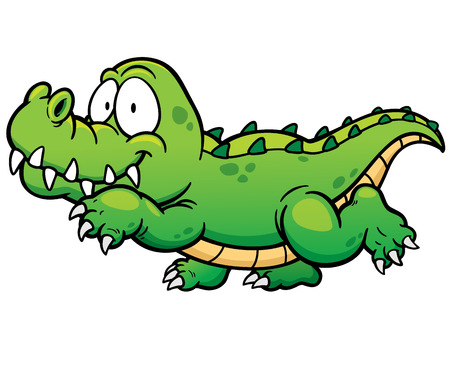 Vector illustration of Cartoon crocodile Vettoriali
