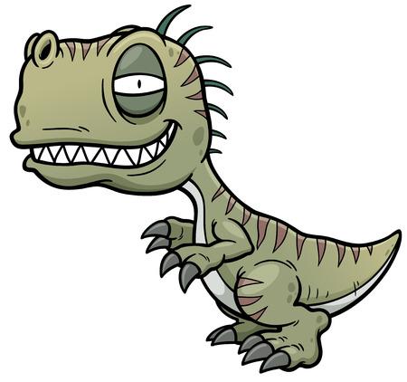 tyrannosaur: Vector illustration of cartoon dinosaur