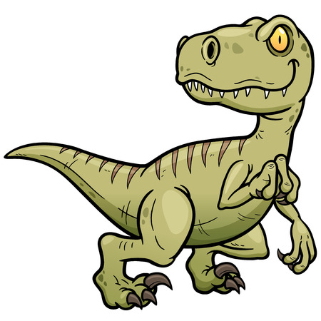 Vector illustration of Dinosaurs cartoon Çizim