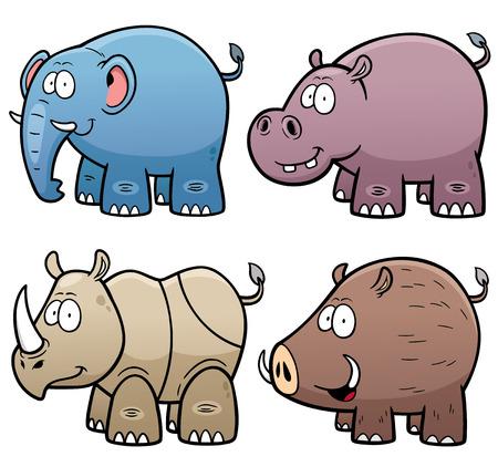 Vector Illustration of Animals set
