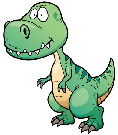 dinosaurio: Ilustraci�n vectorial de dibujos animados dinosaurio