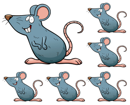 rata caricatura: Ilustración del vector de hacer el juego elección - Rata