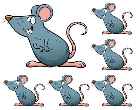 cartoon rat: Vector Illustration of make the choice matching - Rat