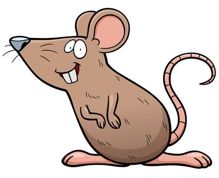 Vector illustration of cartoon Rat
