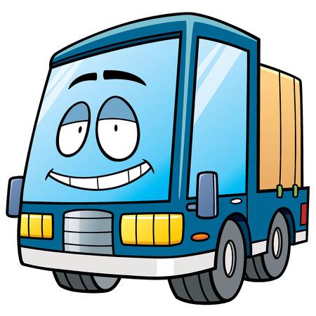 ciężarówka: Ilustracji wektorowych z samochodu cartoon