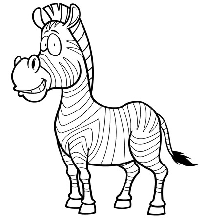 Vector Illustration Of Zebra - Coloring Book Royalty Free Cliparts ...
