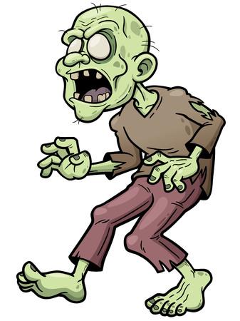 guy standing:  illustration of Cartoon zombie