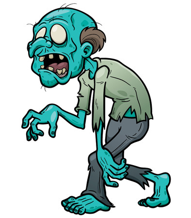 horrors:  illustration of Cartoon zombie