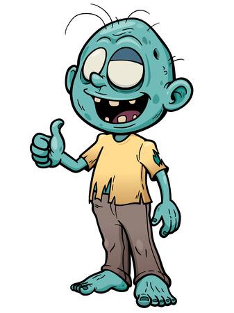 illustration of Cartoon zombie