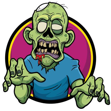 diente caricatura: Ilustración del vector de la historieta del zombi