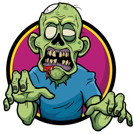 fear cartoon: Vector illustration of Cartoon Zombie
