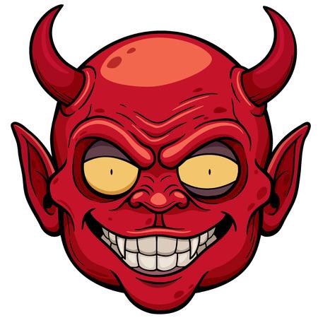 devil cartoon: Vector illustration of Devil face