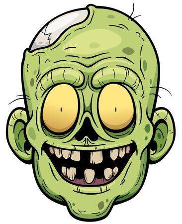 face zombie: Vector illustration of Cartoon Zombie face