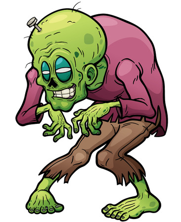 corpse: Vector illustration of Cartoon Zombie