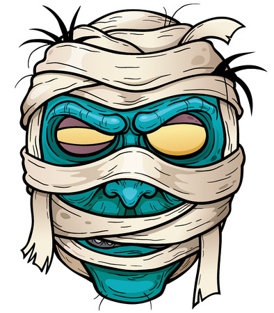 Vector illustration of Cartoon mummy face