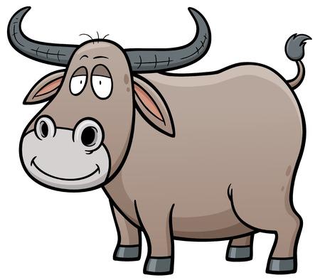 Vector illustration of Cartoon Buffalo