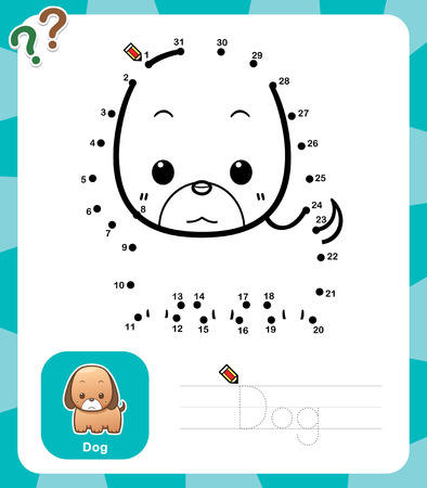 game dog: Vector Illustration of Education dot to dot game - Dog Illustration