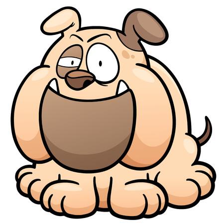 excited cartoon: illustration of Cartoon Dog
