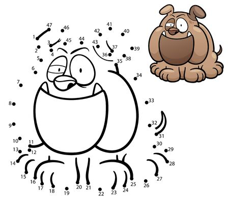 game dog: Illustration of Education Numbers game - Dog