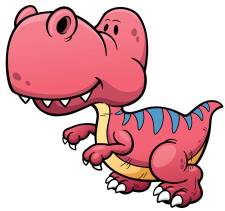 tyrannosaur: illustration of Dinosaur cartoon