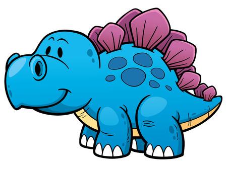 carboniferous: illustration of Cartoon dinosaur